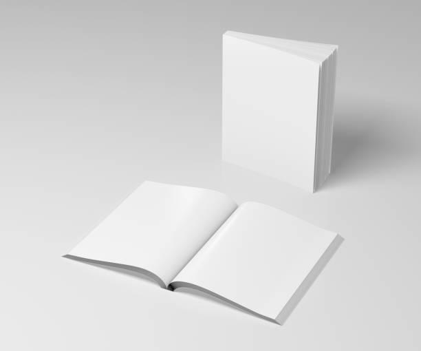 lege zachte cover boeken geopend en staande - smeren stockfoto's en -beelden