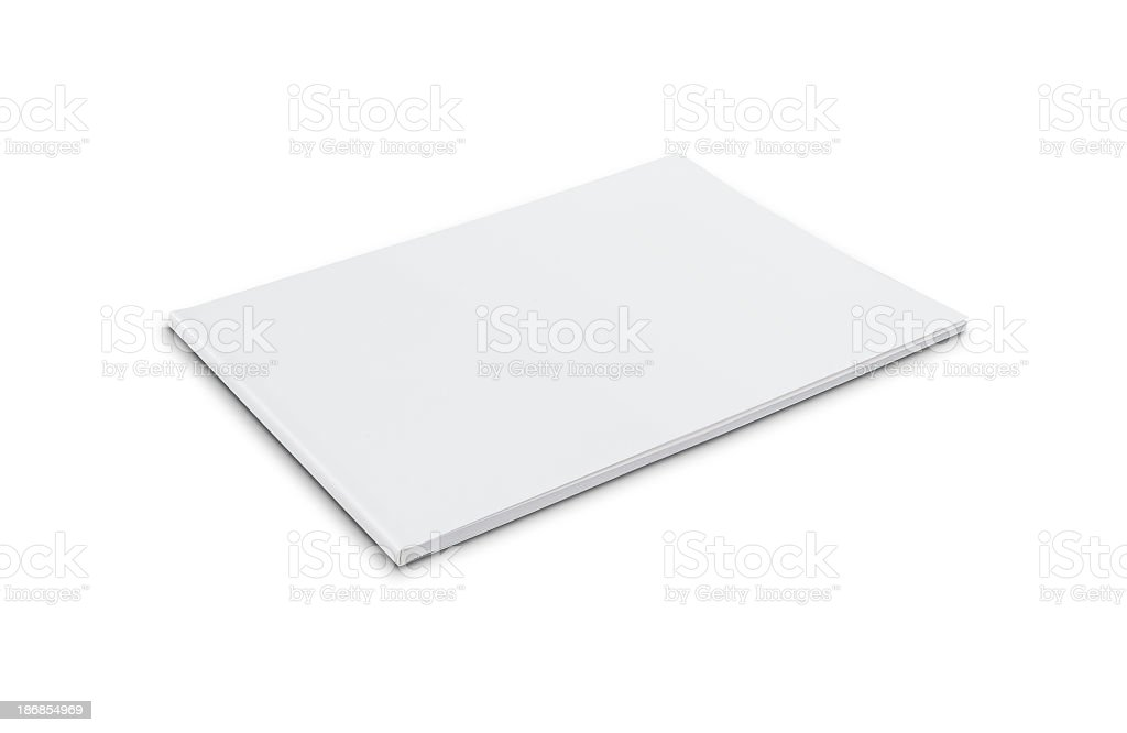 Blank softcover book (landscape) stock photo