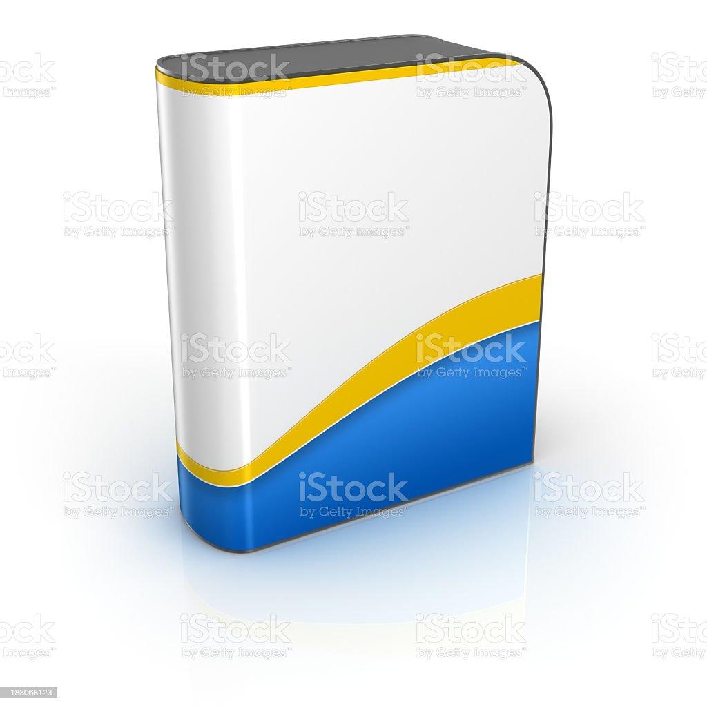 Blank software box royalty-free stock photo