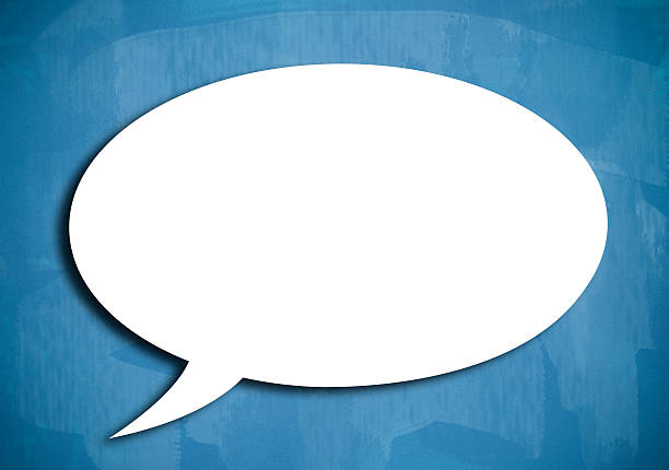 blank speech bubble / blue board concept (click for more) - thought bubble stock photos and pictures
