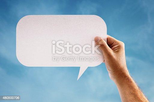 465462550istockphoto Blank speech bubble 480500706