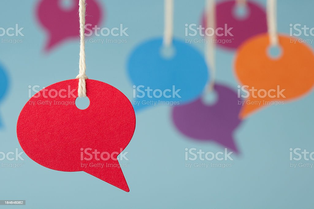 Blank speech bubble price labels stock photo