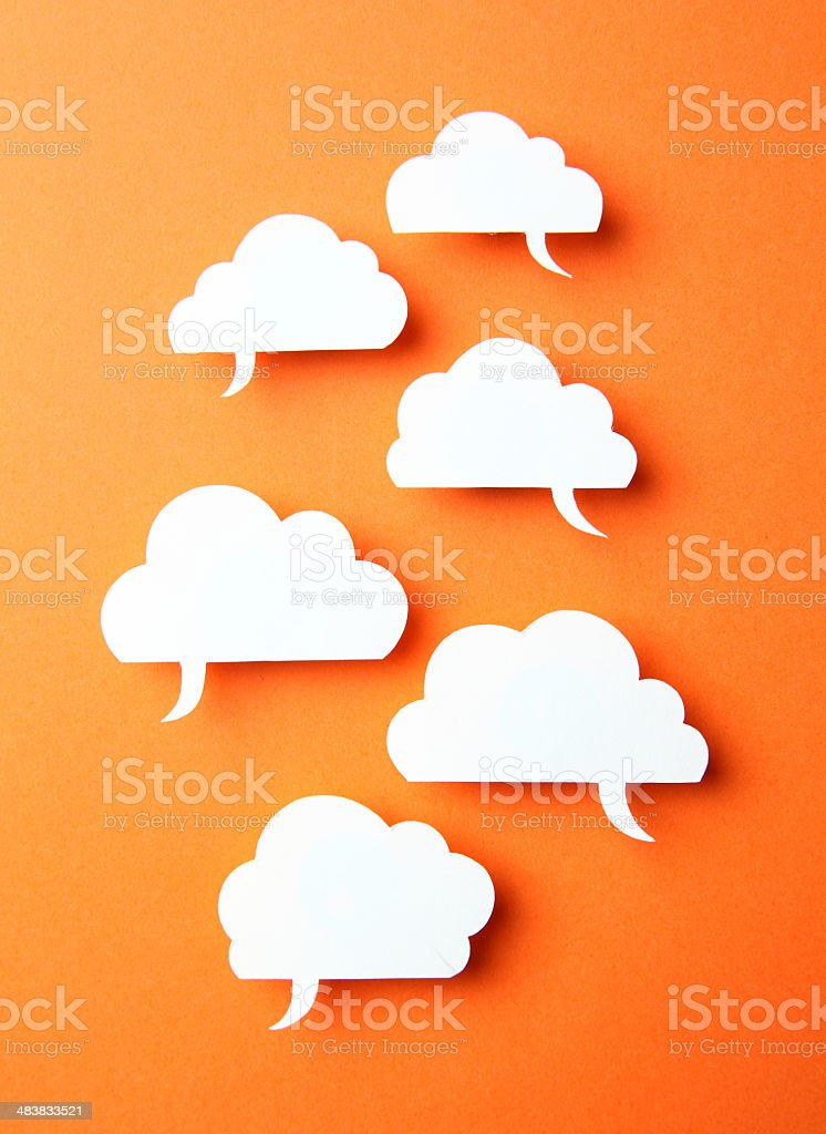 blank speech bubbles stock photo