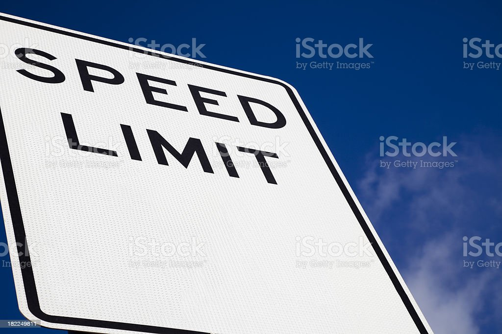 blank speed limit sign royalty-free stock photo