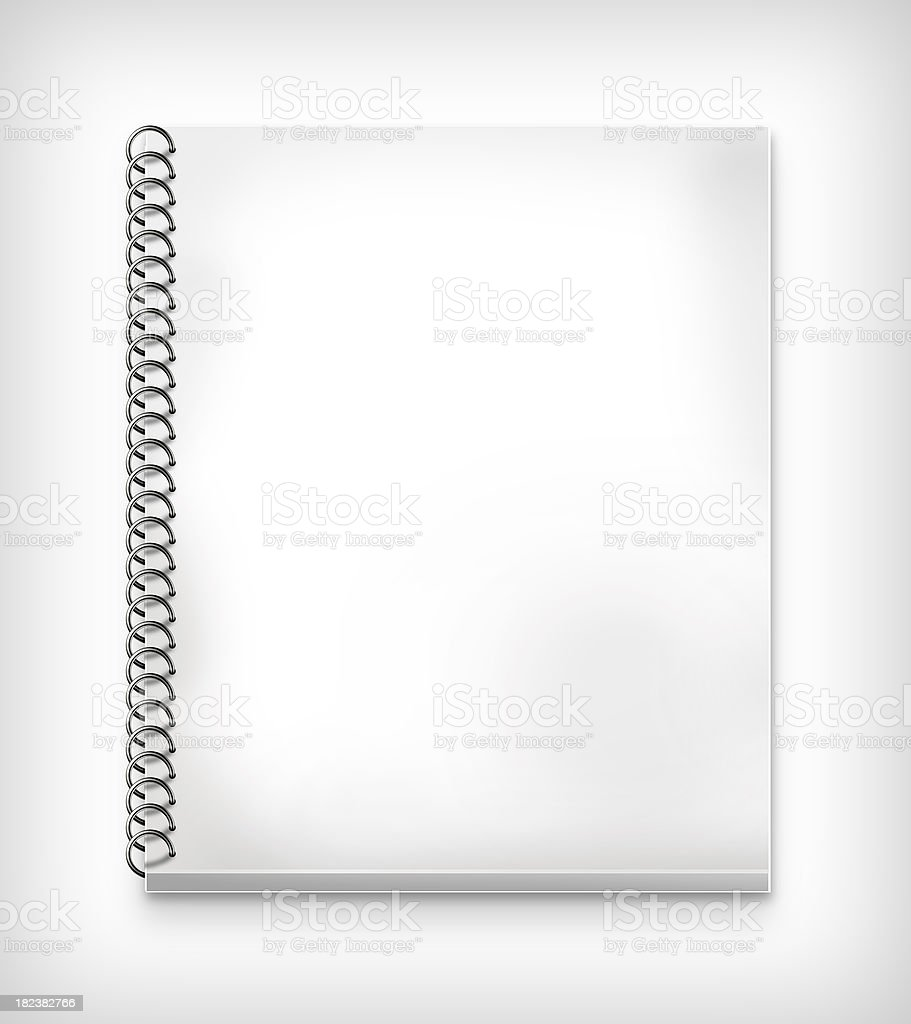 Blank spiral bound notebook royalty-free stock photo