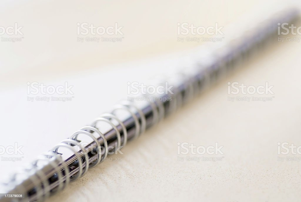 Blank spiral note book stock photo