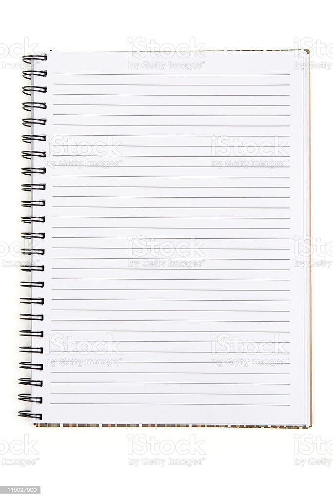 Blank Spiral Notebook - Add Your Own Text royalty-free stock photo