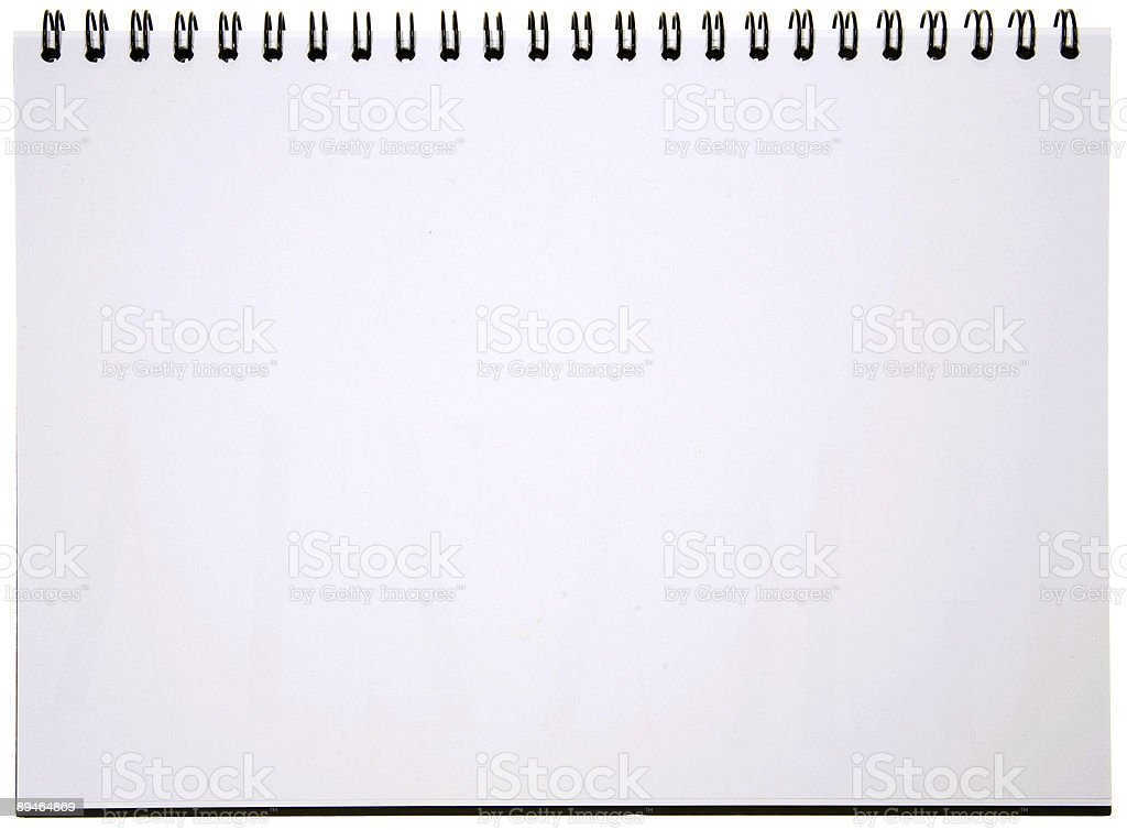 Blank Spiral Notepad royalty-free stock photo