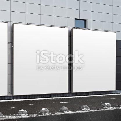istock Blank square billboards 525958572