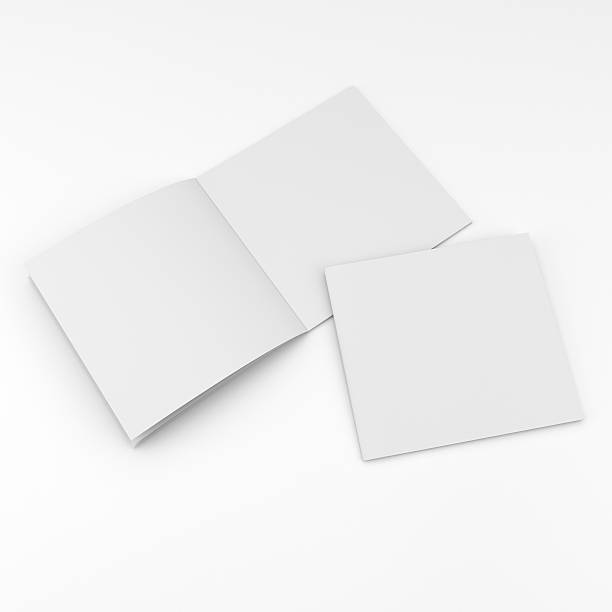 blank square catalog composition blank square catalog or brochure mock up on white. render square composition stock pictures, royalty-free photos & images