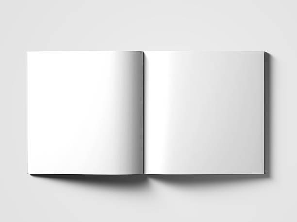 Vide square catalogue mock up sur blanc. - Photo