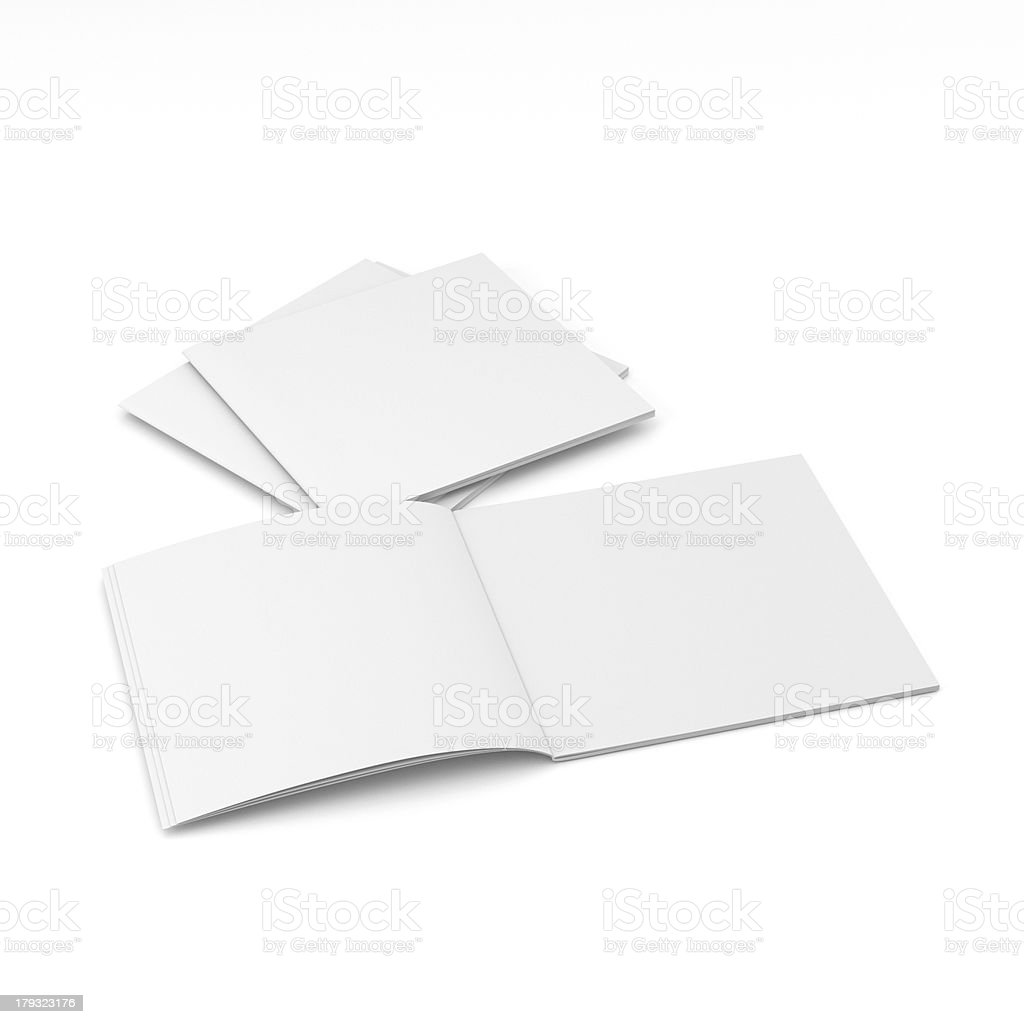 blank square catalog stock photo