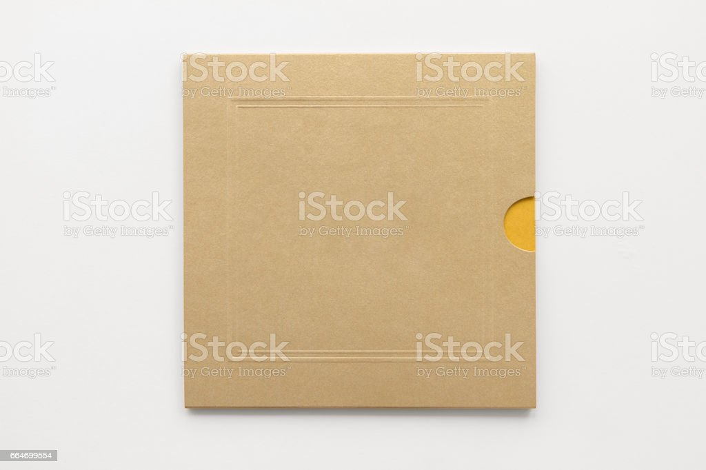 Blank Square Greeting Card Or Invitation Template From Gold