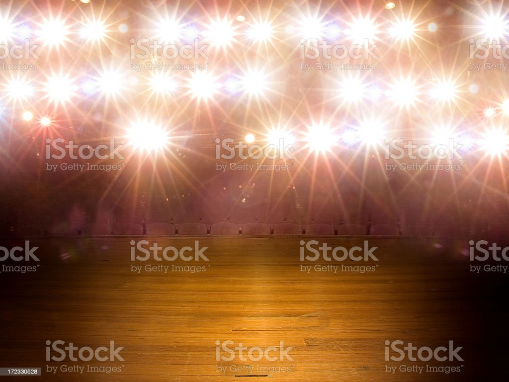 Blank Stage stock photo
