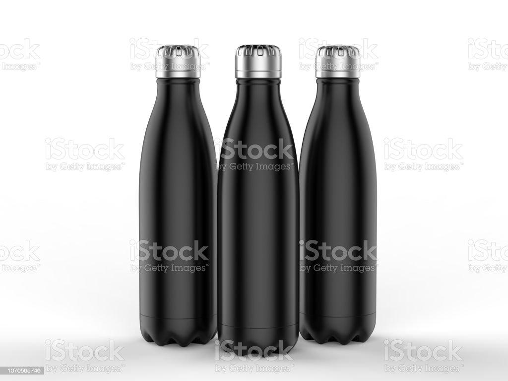 Blank Stainless Steel Double Wall Workout Bottle 3d Render