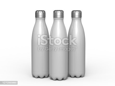 Blank stainless steel double wall workout bottle.