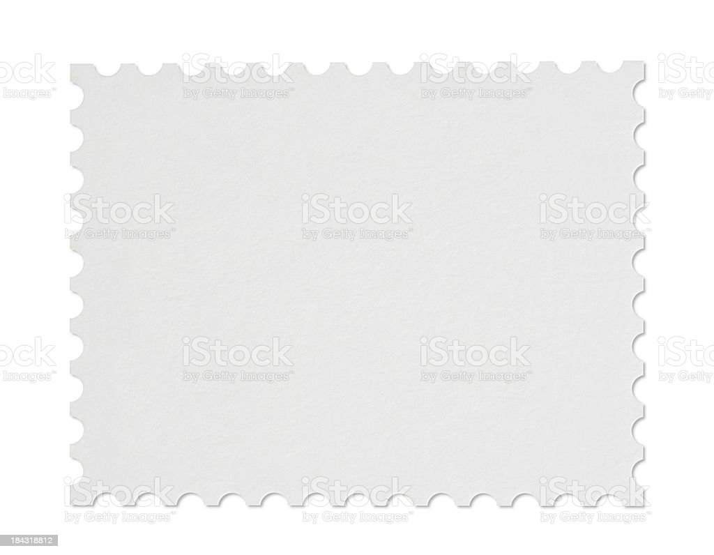 Blank Stamp stock photo