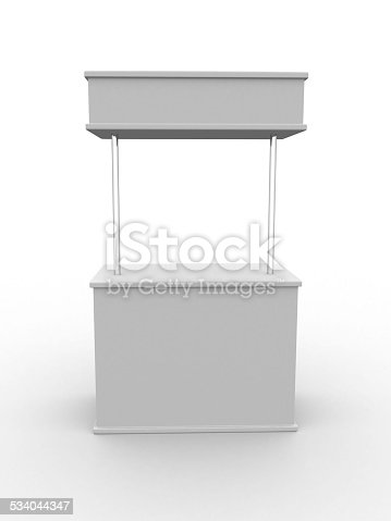 istock Blank stand 534044347