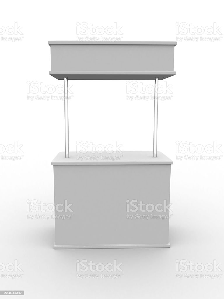 Blank stand stock photo