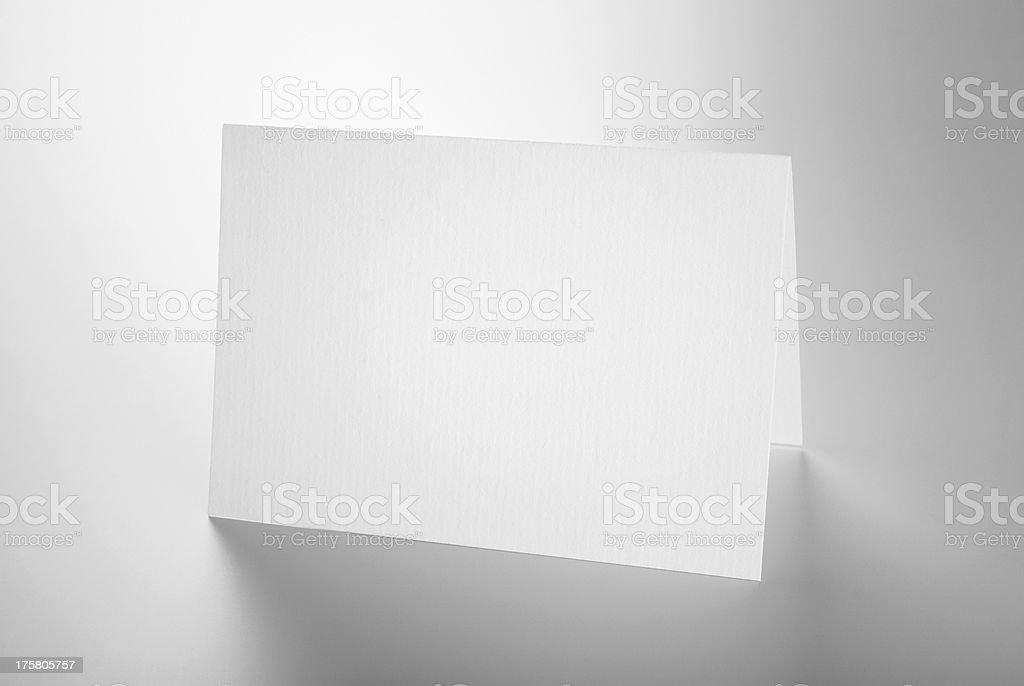 Blank fournitures de bureau: Debout de carte - Photo