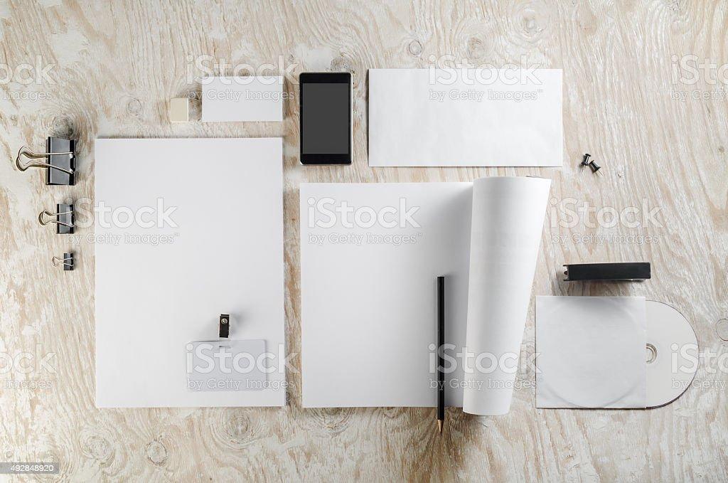 Blank stationery template stock photo