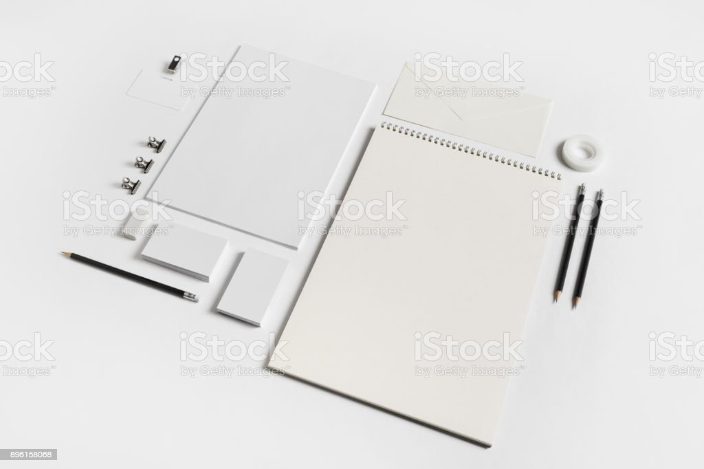 Blank stationery template stock photo