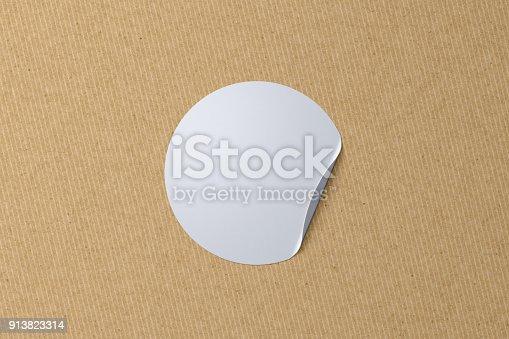 913812376 istock photo Blank sticker label 913823314