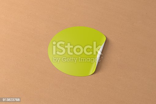 913812376 istock photo Blank sticker label 913823768