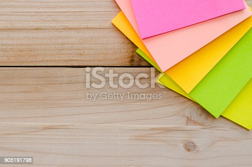 istock blank sticky note or post note. 905191798