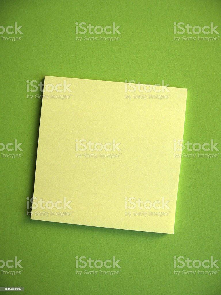 Blank Sticky Note stock photo