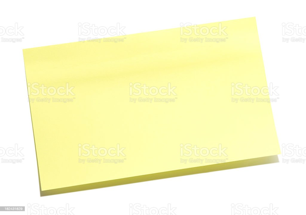 Blank Sticky Note royalty-free stock photo