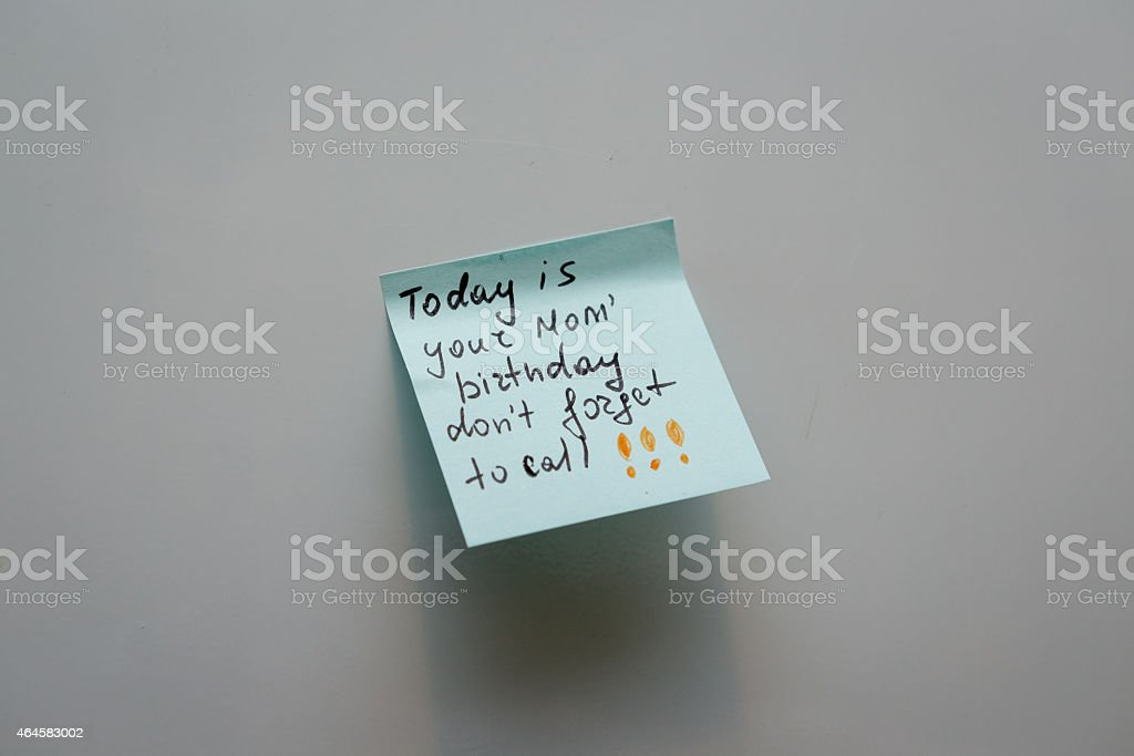 Blank sticky note reminders stock photo