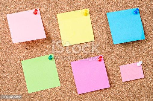 istock Blank sticky notes 1201648462