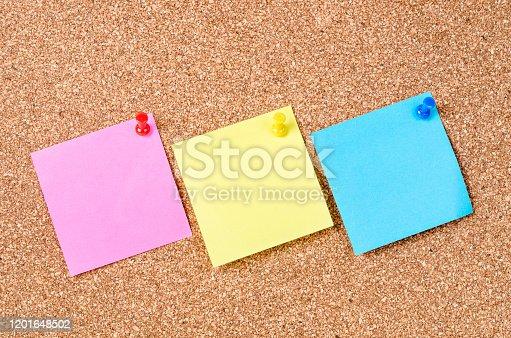 istock Blank sticky notes 1201648502