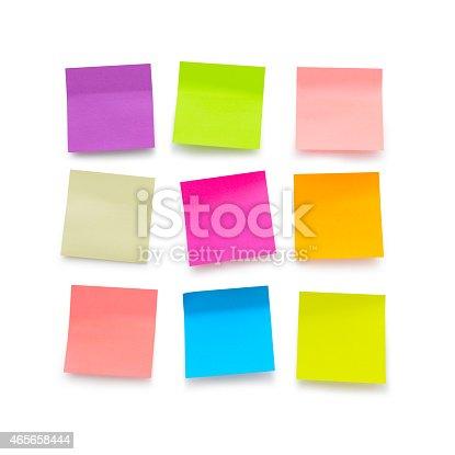istock Blank sticky notes 465658444