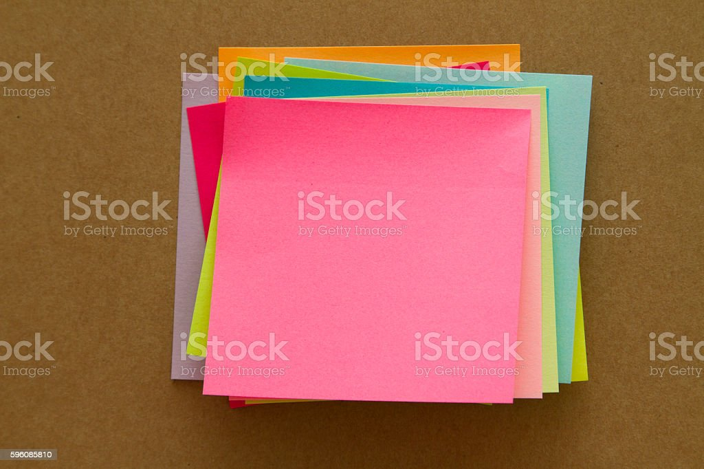 Blank Sticky Notes royalty-free stock photo