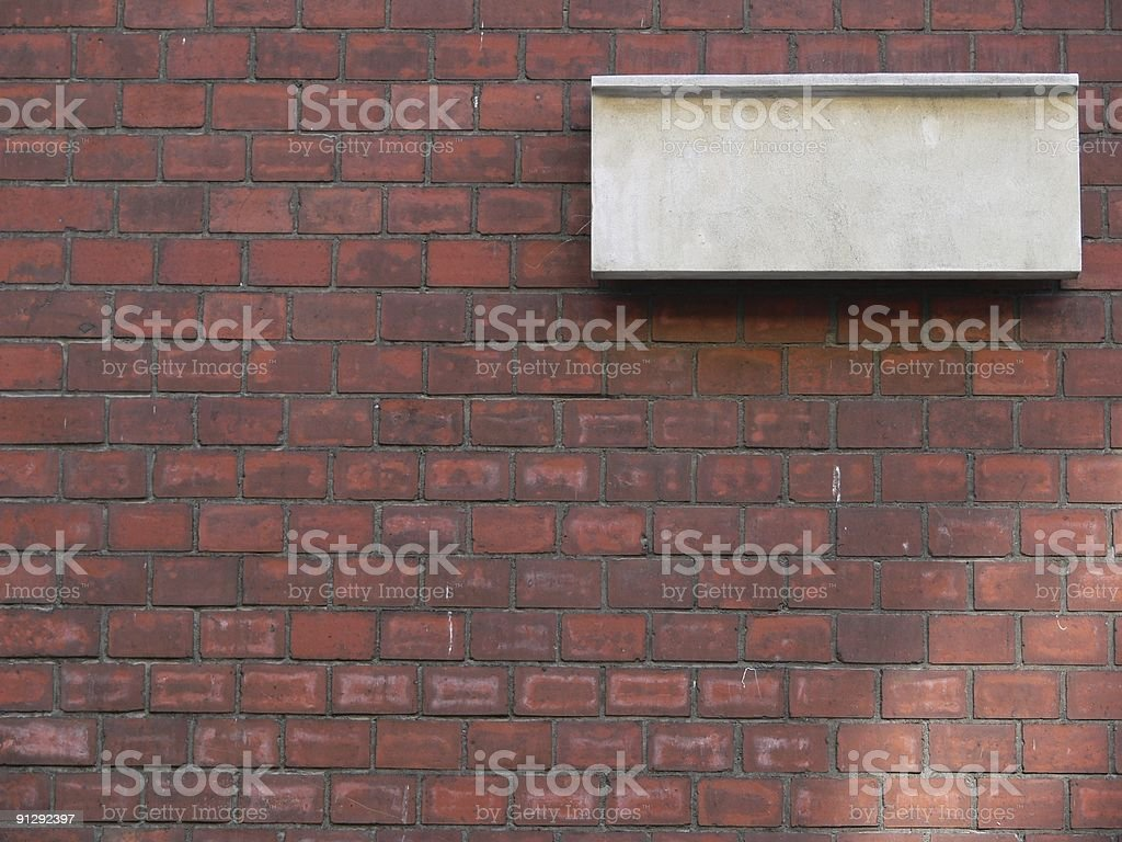 Blank stone tablet on the wall royalty-free stock photo