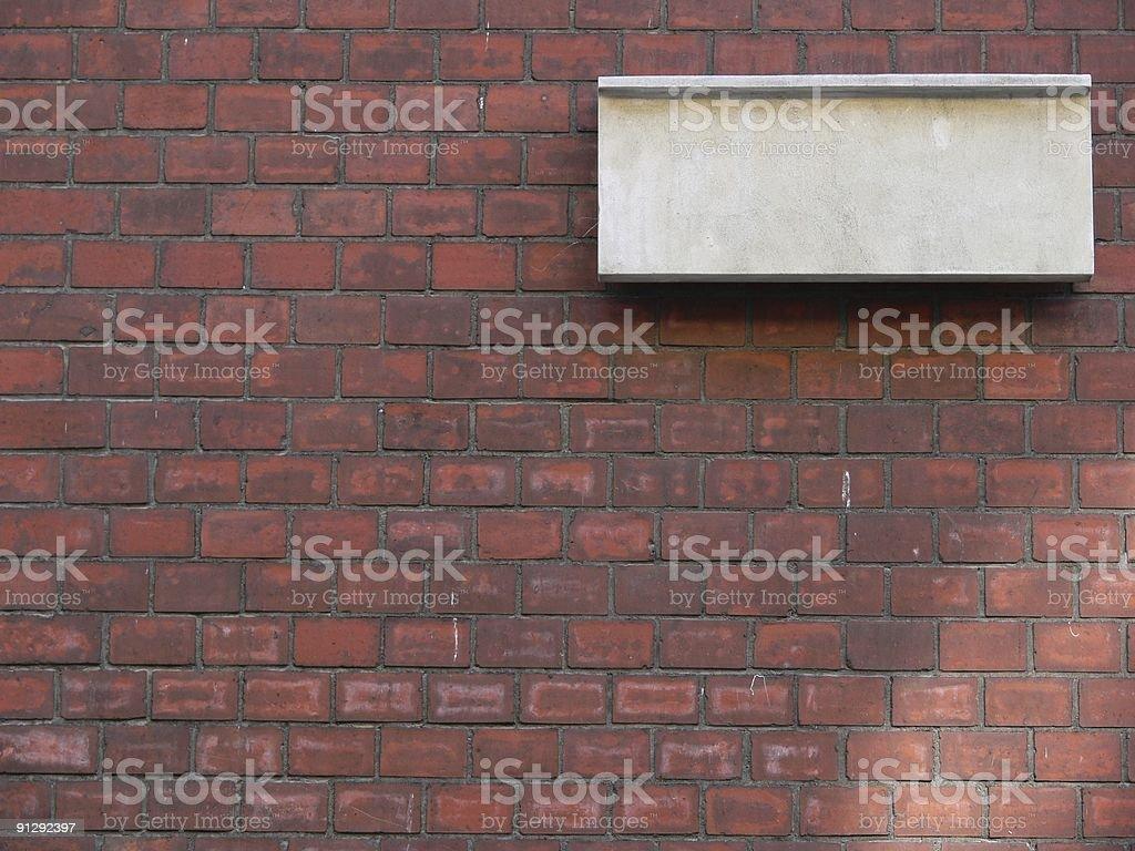 Leere stone tablet auf der Wand – Foto