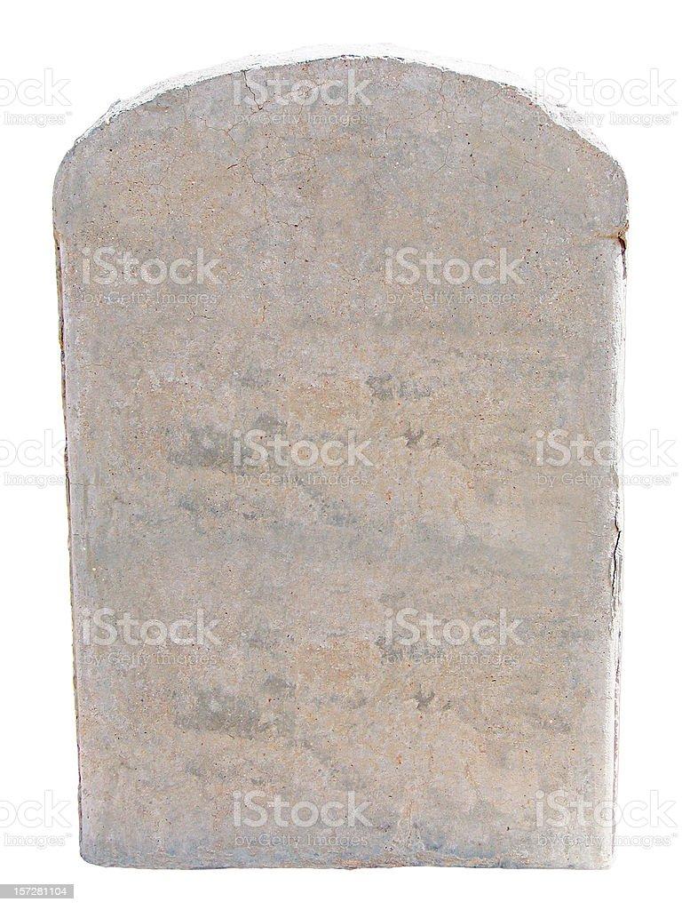 Blank Stone Tablet stock photo