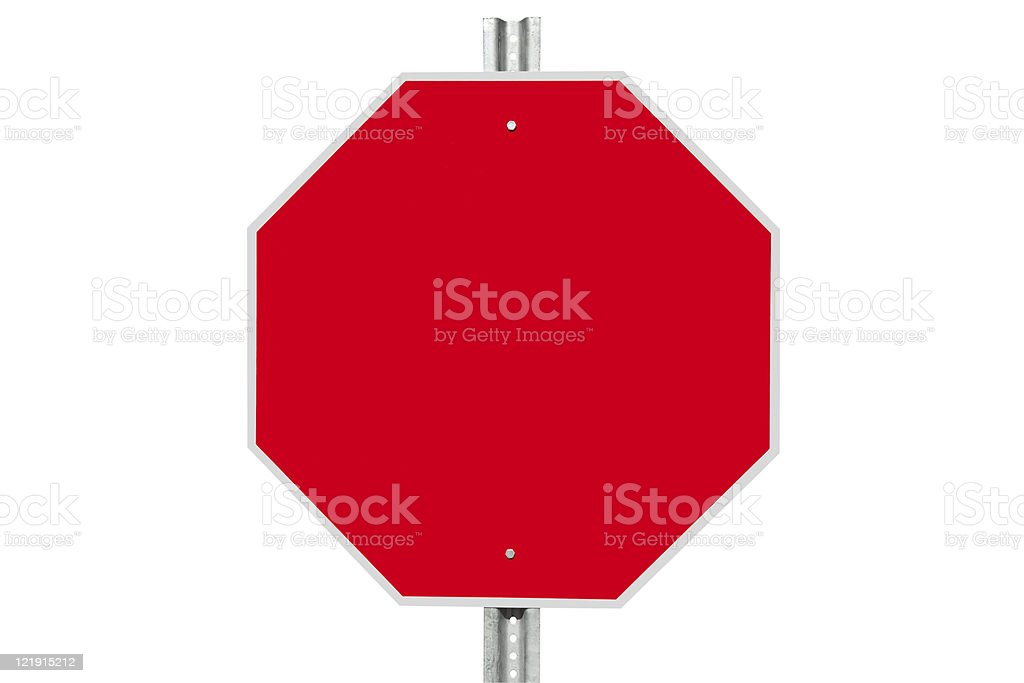 Blank Stop Sign stock photo