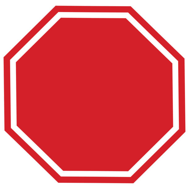 blank stop sign - stop sign stock pictures, royalty-free photos & images