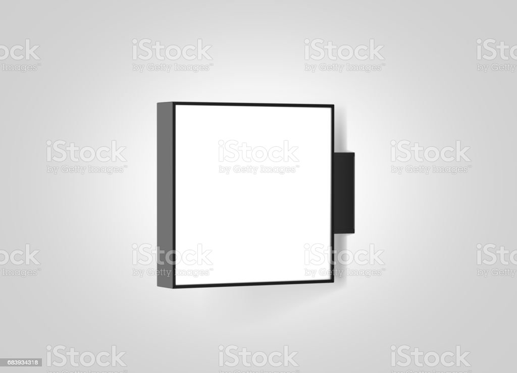 Blank store outdoor signage mockup isolated stock photo
