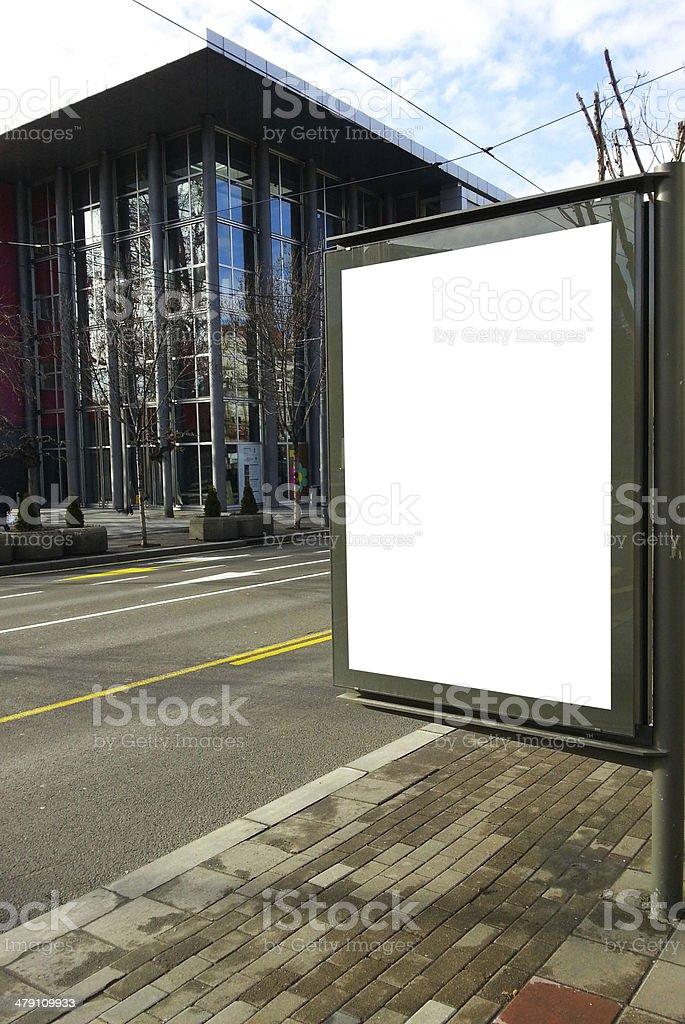Blank street billboard stock photo