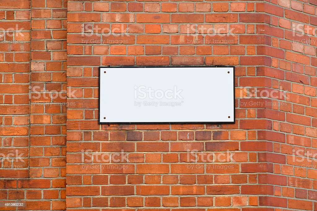 Blank Street Name Sign stock photo