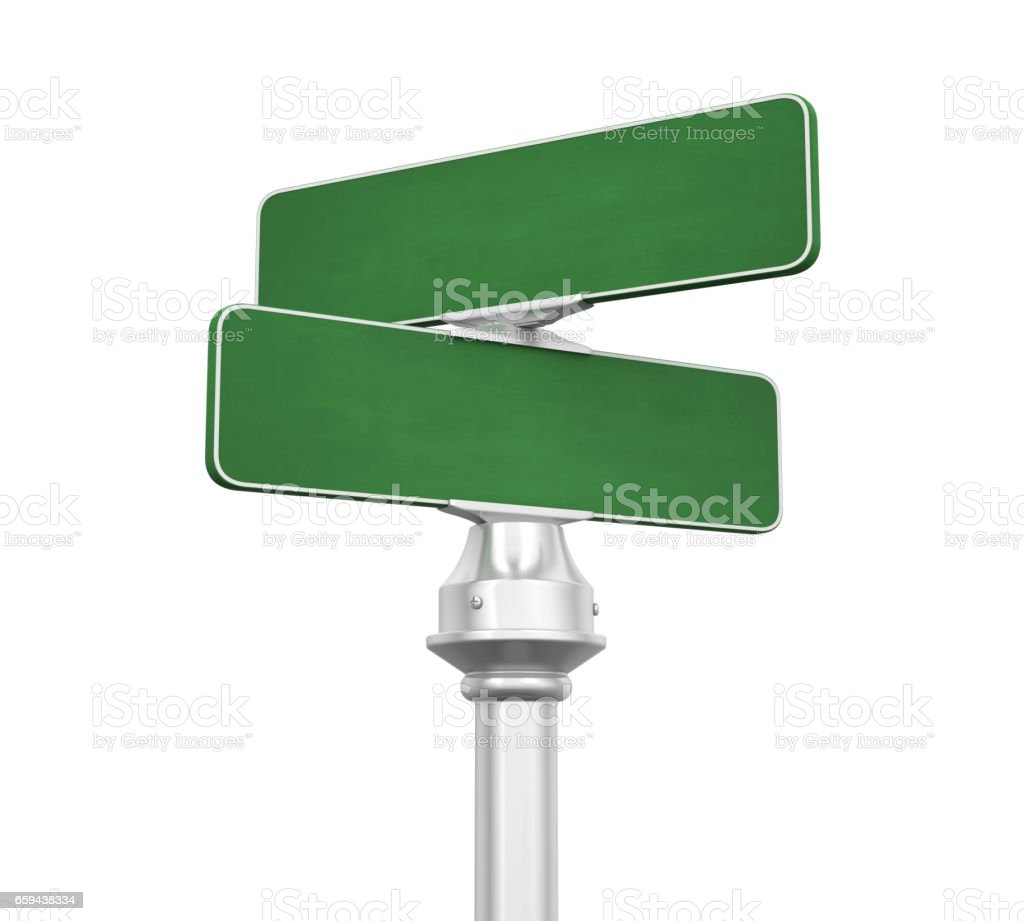 Blank Street Sign Isolated stock photo