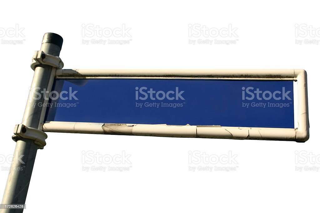 Blank Street Sign (isolated) stock photo