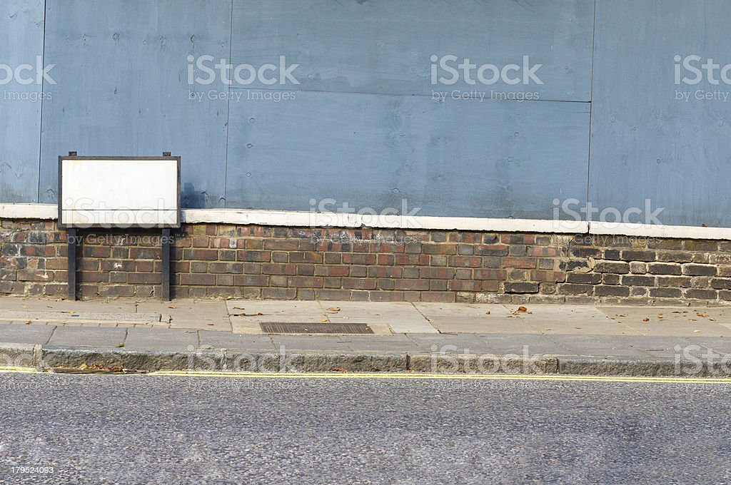 Blank Street Sign royalty-free stock photo