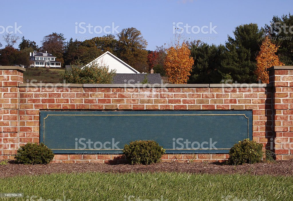 Blank Subdivision Sign royalty-free stock photo