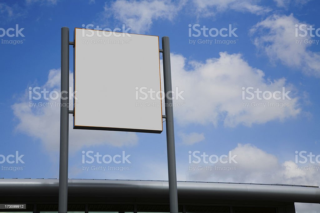 Blank Superstore Sign-More in Lightbox Below stock photo