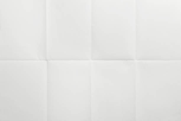 blank surface, new paper sheet with creases - number 8 stock pictures, royalty-free photos & images